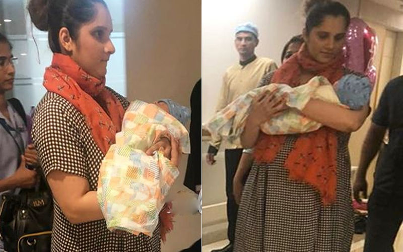 Sania Mirza Takes Baby Boy Izhaan Home - First Pictures
