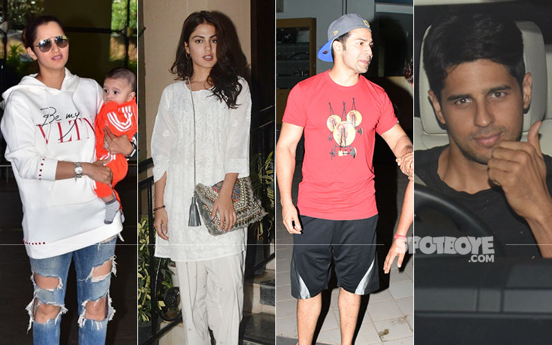 Celeb Spottings: Sania, Rhea, Varun, Sidharth Have A Ball!