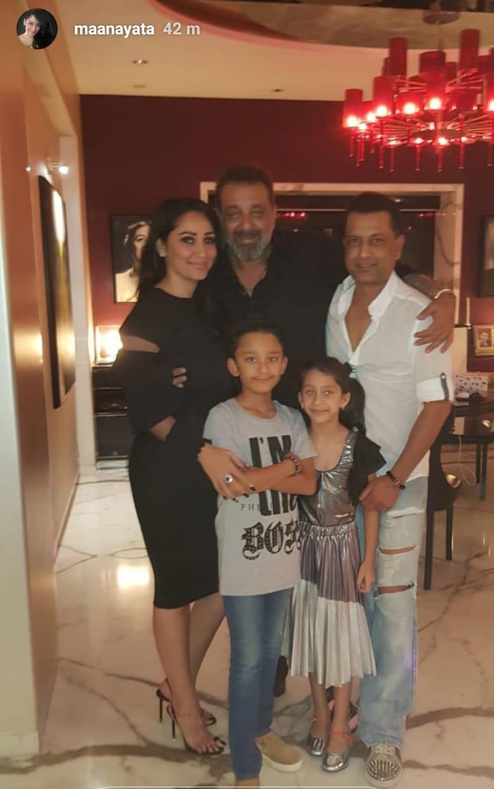 sanjay and maanayata with paresh ghelani