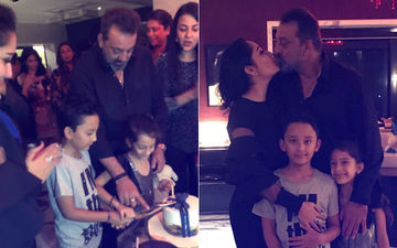 Maanayata Shares Inside Pics Of Her Darling Husband Sanjay's 59th Birtbday