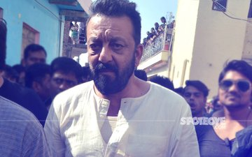 Guess Who Joined Sanjay Dutt On The Sets Of Bhoomi?