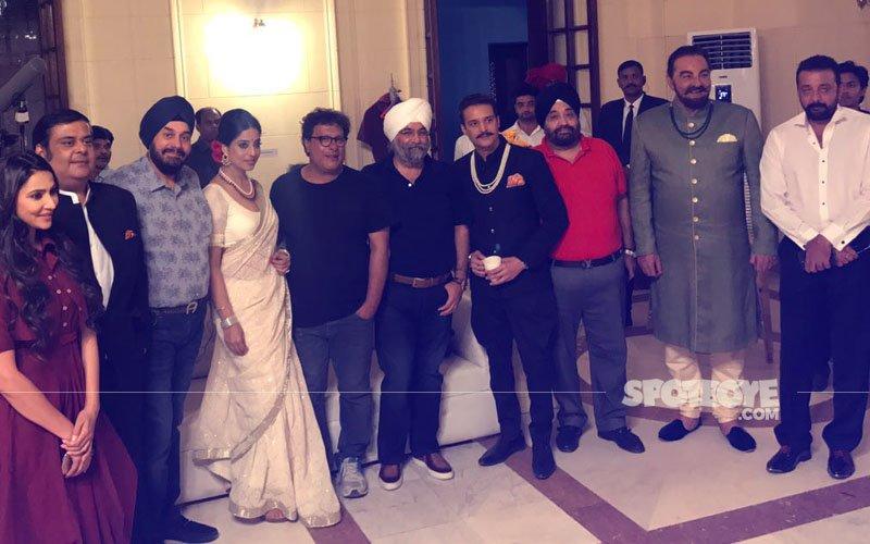 JUST IN: Sanjay Dutt, Mahie Gill & Jimmy Shergill Shoot Saheb Biwi Aur Gangster 3 In Bikaner