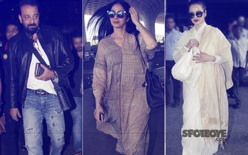 Sanjay Dutt, Sridevi, Rekha, And Many More At The Airport