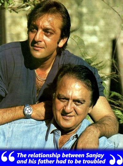 sanjay dutt with father sunil dutt