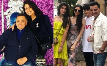 Sanjay Kapoor, Maheep Kapoor And Daughter Shanaya Meet Rishi Kapoor In New York