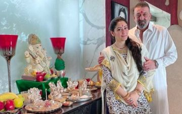 Ganesh Chaturthi 2020: Post Lung Cancer Diagnosis, Sanjay Dutt And Wife Maanyata Dutt Celebrate The Festival With Love And Positivity