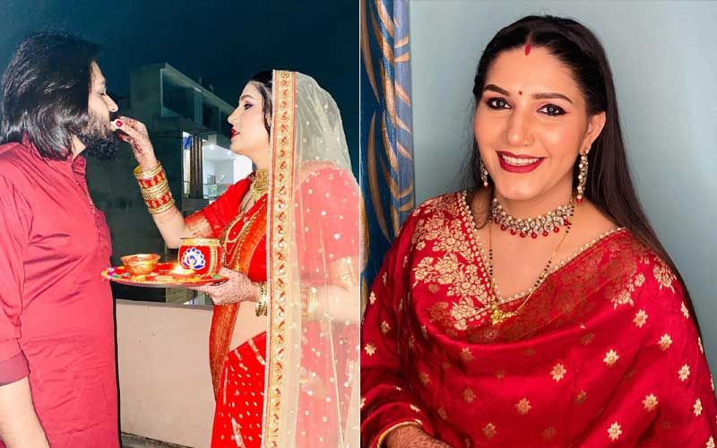 Ex-Bigg Boss Contestant Sapna Choudhary CONFIRMS Her Marriage; Shares Pictures From Her First Karwa Chauth
