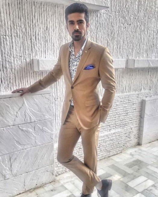 saqib saleem looks daper in suit