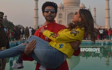 Sara Ali Khan - Kartik Aaryan Paint Agra Red With Love; Romancing In Front Of Taj Mahal In Not Cliche After All