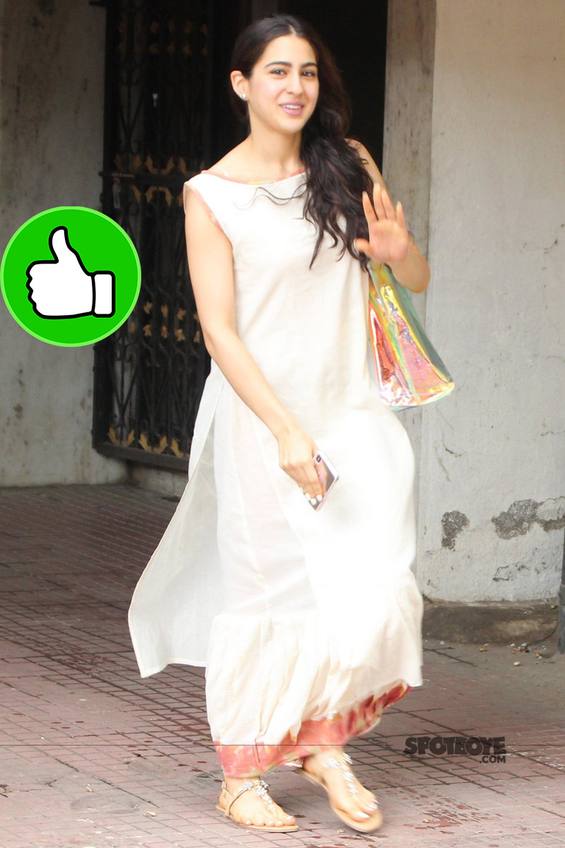 sara ali khan snapped post gym session