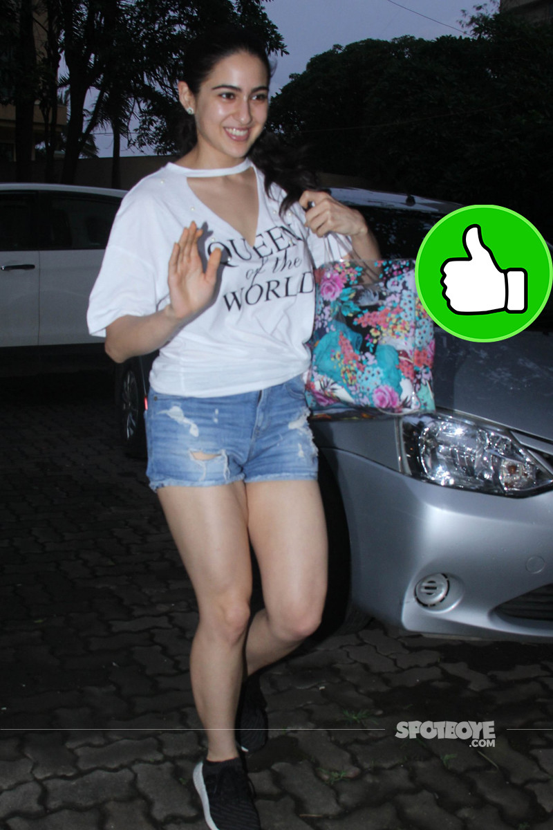 sara ali khan snapped post yoga session