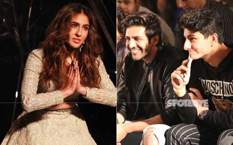 Sara Ali Khan Sets The Runway Ablaze; Brother Ibrahim-Boyfriend Kartik Aaryan Ask Her To Not Fold Hands In Front Of Camera – Watch Video