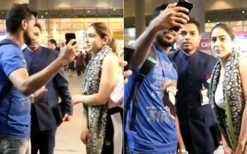 Sara Ali Khan Is Stern Yet Polite With A Fan Who Tries To Get Too Close For Comfort While Taking A Selfie - VIDEO