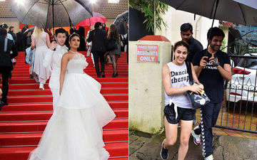 Kartik Aaryan Follows Nick Jonas' Footsteps; Holds An Umbrella For His Leading Lady Sara Ali Khan