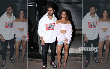 Rumoured Exes Sara Ali Khan And Kartik Aaryan Twin In White As They Chill Together In The City - PICS