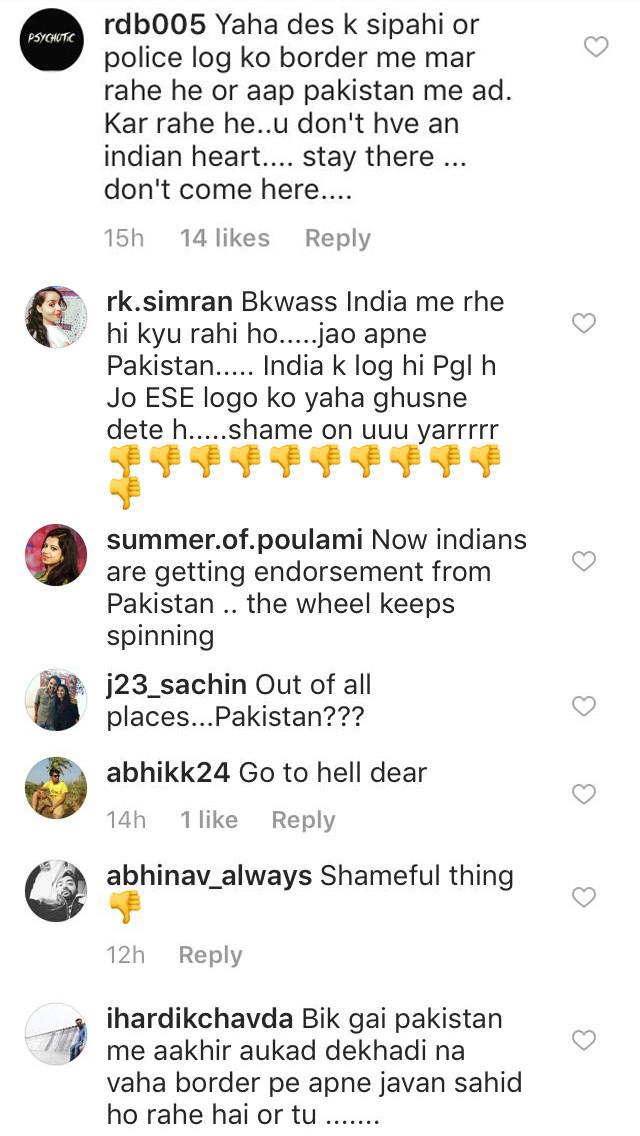sara khan trolled for her pakistani ad