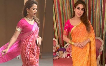 Mira Rajput And Sara Ali Khan's Same-To-Same Bandhani Sarees Get A Thumbs Down; Whose Look Is Shoddier?
