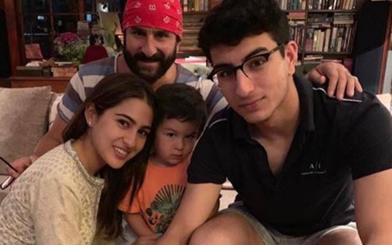 Sara Ali Khan  Shares A Cute Family Picture To Wish Her Father A Happy Birthday; Taimur's Expression In The Picture Is Unmissable!