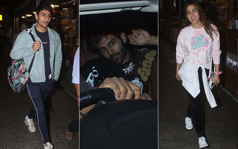 Kartik Aaryan Shies Away From Cameras As He Receives Sara Ali Khan At The Airport