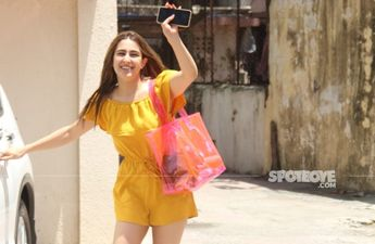 Workout Goals! Sara Ali Khan's Bright Yellow Jumpsuit Sets The Tone For A Lazy Weekend