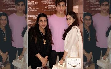 Sara Ali Khan Spotted With Mom Amrita Singh And Brother Ibrahim At Goa Airport; Actress Leaves For Mumbai After Being Summoned By NCB