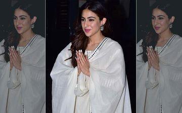 Sara Ali Khan Is Back With Her Signature Namaste Pose; Wins Hearts As She Asks Paparazzi 'Aap Log Kaise Ho? Sab Safe Ho Na?'- VIDEO