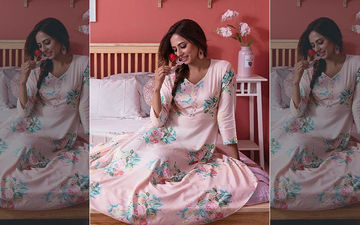 Sargun Mehta Is Slaying In This Pink Floral Print Maxi Dress