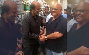Rajinikanth Bumps Into Satish Kaushik In Mumbai, Latter Calls This Meeting A 'Cherishing Moment With Great Human Being'
