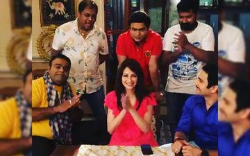 New Mommy Saumya Tandon Returns To Bhabi Ji Ghar Par Hain Sets; Receives A Warm Welcome