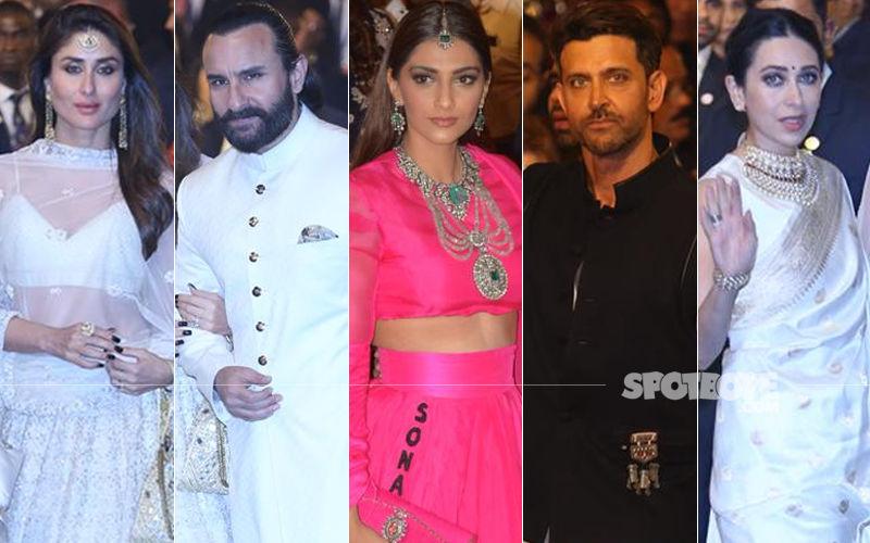 Isha Ambani-Anand Piramal Wedding: Kareena Kapoor Khan, Saif Ali Khan, Sonam Kapoor, Hrithik Roshan, Karisma Kapoor Make A Dazzling Appearance