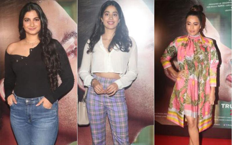 Judgementall Hai Kya, Celeb Screening: Janhvi Kapoor, Rhea Kapoor, Swara  Bhasker Watch The Kangana Ranaut Starrer