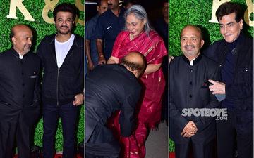 Amitabh Bachchan, Jeetendra, Anil Kapoor And Sonu Nigam Attend Lyricist Sameer Anjaan's Daughter's Wedding Reception