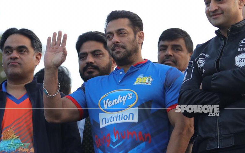 Salman Khan Snapped At Celebrity Cricket League 8 Match; Cheers For Sohail Khan's Team Mumbai Heroes