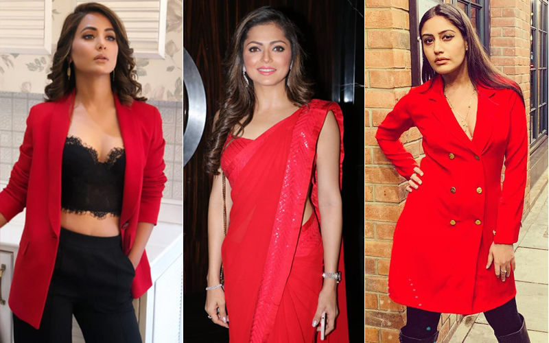 Drashti Dhami, Surbhi Chandna, Hina Khan Go Red. Who's The Hottest You Said?
