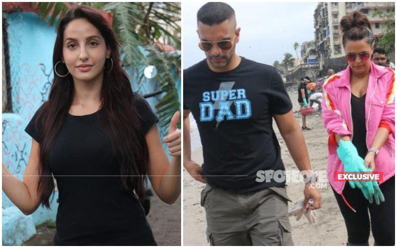 Nora Fatehi DISAPPEARS Without Informing Event Organiser As Ex-Boyfriend, Angad Bedi Arrives With Neha Dhupia- EXCLUSIVE