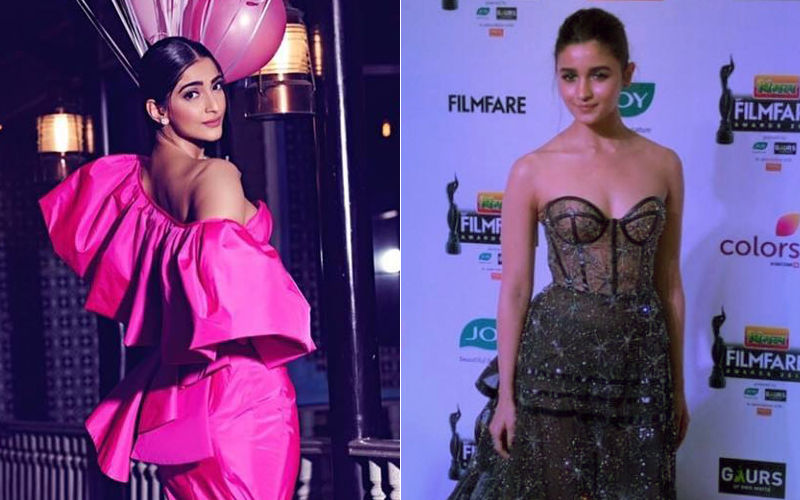 64TH Filmfare Awards 2019: Sonam Kapoor Is In 'Pink' Of Health, Quite Literally! Alia Bhatt Dazzles In Black