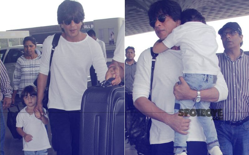 Shah Rukh Khan, AbRam & Aryan MISS Their Flight To Kolkata