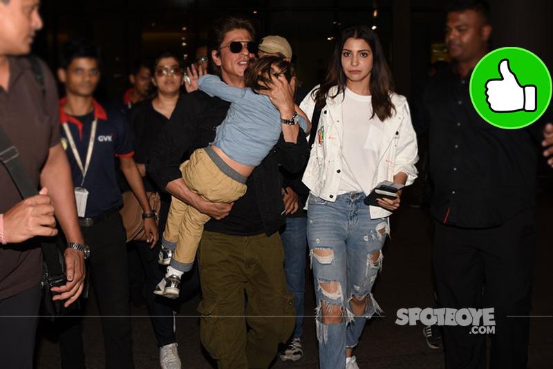 shah rukh khan and anushka sharma at the airport