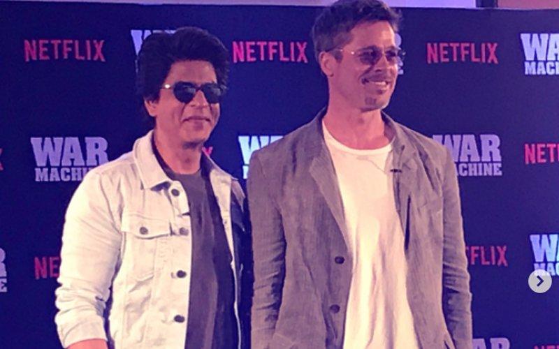 Double Joy: Shah Rukh Khan And Brad Pitt Together!