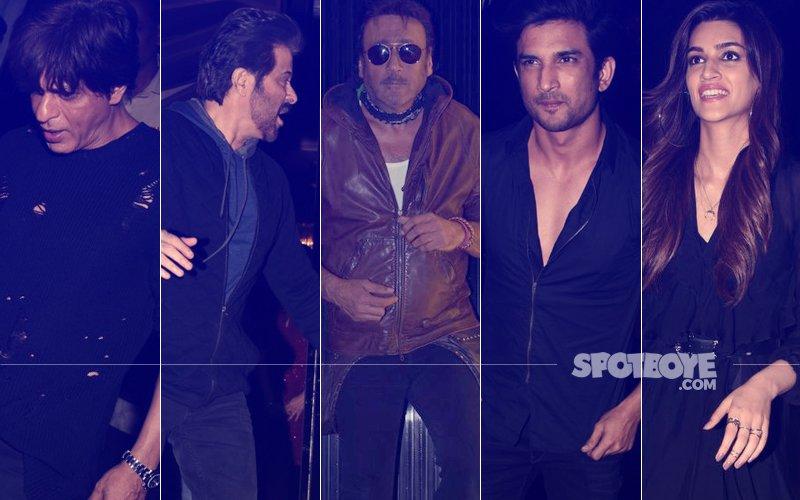 Shah Rukh Khan, Anil Kapoor, Jackie Shroff, Sushant Singh Rajput, Kriti Sanon Party The Night Out