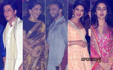 Shah Rukh Khan, Deepika Padukone, Ranveer Singh, Priyanka Chopra, Sara Ali Khan Attend Mukesh Ambani's Ganpati Celebration