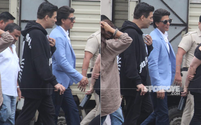 Shah Rukh Khan Goes Formal, While Karan Johar Opts For A Hoodie As They Head For A Photo Shoot