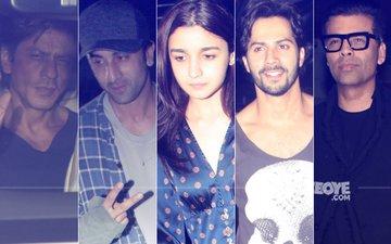 Shah Rukh Khan, Ranbir Kapoor, Alia Bhatt, Varun Dhawan, Karan Johar Party All Night