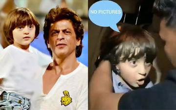 तस्वीरें लेने आए फोटोग्राफर्स पर गुस्सा हुए शाहरुख खान के बेटे अबराम, देखिए वीडियो
