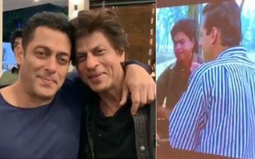 एक दूसरे के कंधे पर हाथ डाल इमोशनल होते दिखे शाहरुख और सलमान खान, देखिए वीडियो