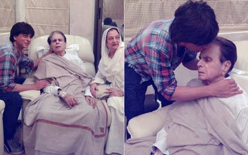 Dilip Kumar's 'Mooh Bola Beta' Shah Rukh Khan Visits The Legendary Actor