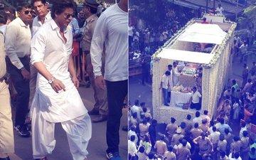 Sridevi's Funeral Procession Reaches Pawan Hans, Shah Rukh Khan, Farhan Akhtar At The Crematorium