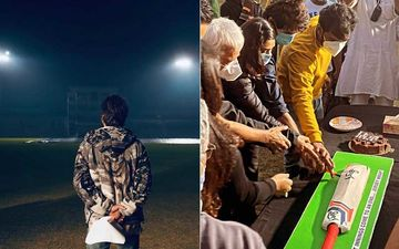 Jersey: Shahid Kapoor Announces Wrap; Team Celebrates With A Huge 'Cricket Bat' Shaped Cake – PICS Inside
