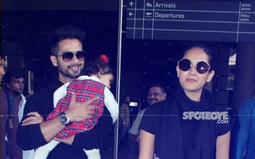 Black Is Back: Shahid Kapoor, Mira Rajput's Airport Fashion