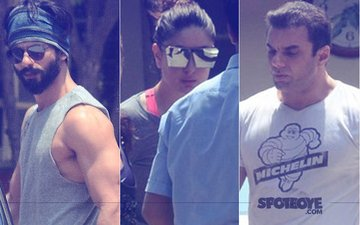 Shahid Kapoor, Kareena Kapoor, Sohail Khan Snapped Post Their Workout
